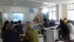 Workshop with geologist in Guadeloupe